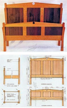 Building a Bed - Furniture Plans and Projects | WoodArchivist.com