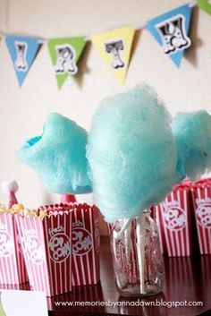 circus party with cotton candy..get a cotton candy machine here http://www.astrojump.com/nwatlanta.htm