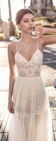 Sexy romantic soft a line wedding dress 2017