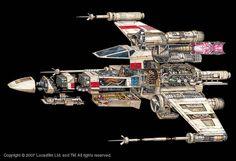 x-wing cutaway illustration - Google Search
