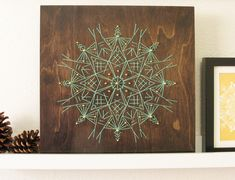Wood Embroidery : Stitched Snowflake on Behance