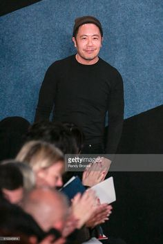 Designer Derek Lam waves to the audience on the runway at Derek Lam Fall 2016 during New York Fashion Week at The Gallery, Skylight at Clarkson Sq on February 14, 2016 in New York City. #dereklam #readytowear #designerhimself #nyfw