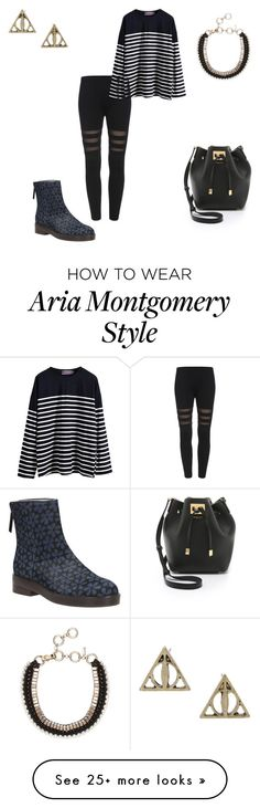 """""""Aria Montgomery (pll)"""" by fridapolyvore04 on Polyvore featuring Clarks and Michael Kors"""