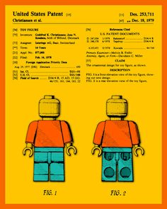 AWESOME! ... 'Lego Man: The Official U.S. Patent' ~Jazzberry Blue