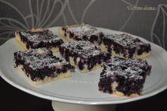 Borůvkový koláč   Vaříme doma Sweet Recipes, Food And Drink, Yummy Food, Bread, Cooking, Cakes, Fine Dining, Kuchen, Kitchen