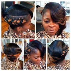 Braided one sided bob Sew In Hairstyles, 2015 Hairstyles, Summer Hairstyles, Braided Hairstyles, Relaxed Hairstyles, Braided Mohawk, Woman Hairstyles, Beautiful Hairstyles, Hairdos