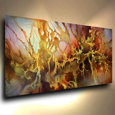 PAINTING abstract MODERN Contemporary original ART DECOR Mix Lang cert. unique #ArtDeco