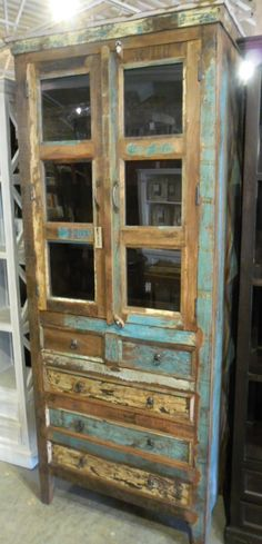 """Barnwood Dresser Cabinet AV012 - $748 36""""W x 20""""D x 86""""H"""