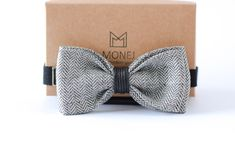 Gray Linen Bow Tie for Men, Rustic Wedding Bow Tie for Groom, Gift for Men Him, Fathers Day Gift Rustic Boho Wedding, Bow Tie Wedding, Boys Bow Ties, Branded Gifts, Business Gifts, Neckties, How To Look Classy, Natural Linen, Stylish Men