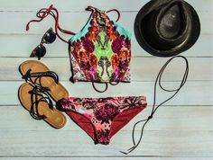 Malvados braided ICON FLORENCE sandals, with a Maaji bathing suit, sunglasses, brown fedora and a necklace  #bikini #bathingsuit #malvados #sandals #flipflops #summer #tan #beach #glow #babes #fitness #gym #fashion #love #sunset #water #pool #local #model #swim #beach #ocean #fun #colour #lspace #maaji #vitamina #friends #selfie #hot #weather #sand #shells #pineapple #sunglasses #flowers #inspo #happy #young #motivation #fit #photoshoot #flats #swimwear