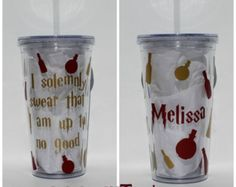 I Solemenly Swear Harry Potter Personalized Acrylic Tumbler 16oz or 20oz