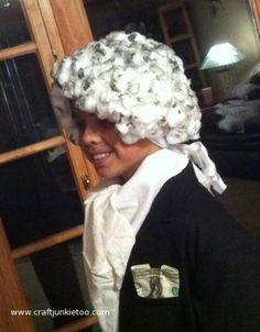 How to Make a George Washington Wig