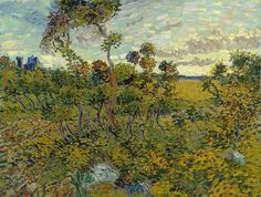 """A major new painting by Vincent van Gogh has been discovered after it spent decades locked away in an attic, suspected to be a fake. """"Sunset at Montmajour"""" was painted by Vincent van Gogh in Researchers authenticated the painting in Vincent Van Gogh, Van Gogh Museum, Art Van, Desenhos Van Gogh, Van Gogh Arte, Van Gogh Pinturas, Catalogue Raisonne, Van Gogh Paintings, Canvas Paintings"""