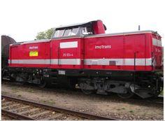 die erste Diesellok im Jahr 2004 verleast, Kennzeichnung mit altem Logo der PLAG
