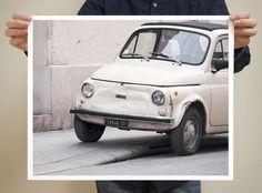 Paris Photography  Fiat Car Print  16x20 by TheParisPrintShop, $75.00