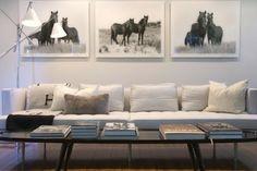 Cavalcade Equestrian Fashion and Culture: Equestrian Chic Interior Round-Up - black and white horse prints