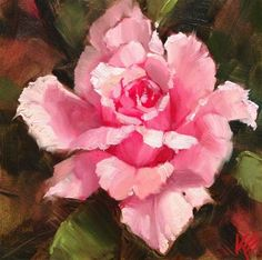 "Daily Paintworks - ""Rose"" by Krista Eaton"