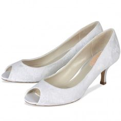 Fondant by Pink for Paradox London Ivory or White Lace Vintage Wedding or Occasion Shoes - SALE