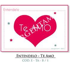 """""""Entendelo - Te Amo"""" - Blanco  Tipo: Cartelito / Mensaje / Arte Digital COD. E- TA - B / 1"""
