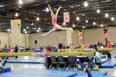 Pink Invitational 2016. Philadelphia Convention Center. #MancinoMeets #Pink #Gymnastics #beam #balancebeam