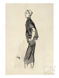 """Vogue - June 1952 Poster Print by Carl """"Eric"""" Erickson at the Condé Nast Collection"""