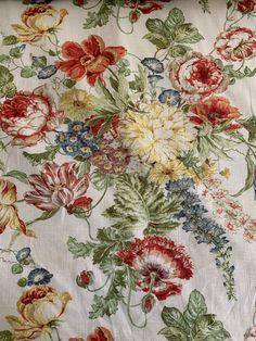 Covington 5th Avenue Designs Ingrid Furman Blanchett Linen Botanical Floral Bouquet Fabric Color Multi D4075