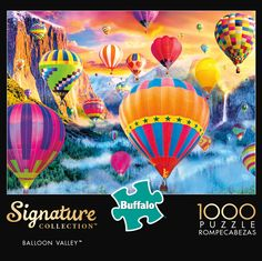 Puzzle Shop, Puzzle Board, Puzzle Pieces, Daily Jigsaw, Floating Balloons, Buffalo Games, Morning Sky, Puzzle Toys, Signature Collection