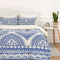 Aimee St Hill Decorative Blue Duvet Cover | DENY Designs Home Accessories