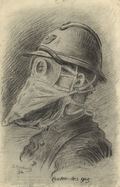 Drawing by Henri Houblain. Europeana 1914-1918, CC BY-SA