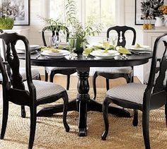how to paint the dining room table black