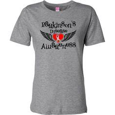 Parkinsons Disease Awareness Women's Fashion T-Shirts  #ParkinsonsDisease #ParkinsonsDiseaseShirts #ParkinsonsDiseaseAwareness
