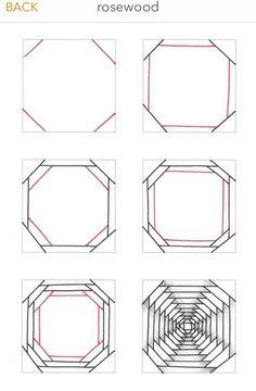 dibujos zentangle paso a paso ~ dibujos zentangle . dibujos zentangle paso a paso . Tangle Doodle, Tangle Art, Doodle Art, Zen Doodle, Doodle Patterns, Zentangle Patterns, Art Patterns, Geometric Drawing, Geometric Art