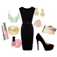 "Adore the little black dress but not the clunky ""big girl"" jewelry."