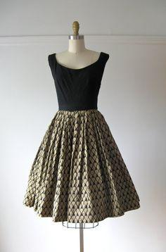 vintage 1950s dress / 50s dress / She's a Bettie