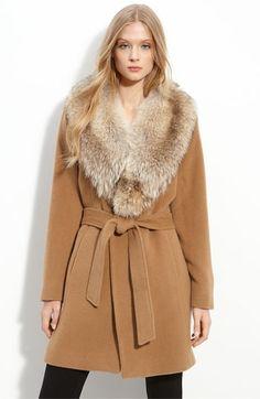 Dale Dressin Wrap Coat with Coyote Fur Trim Stylish Jackets, Wrap Coat, Velvet Fashion, Winter Trends, Winter Coats Women, Wrap Sweater, Fur Trim, Pretty Outfits, Winter Fashion