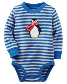 Baby Boy Thermal Penguin Bodysuit from Carters.com. Shop clothing & accessories from a trusted name in kids, toddlers, and baby clothes.