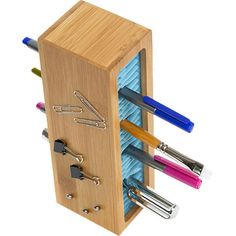 Magnetic Pen Storage Caddy in Blue  at Joss and Main