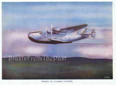 1940s Vintage AIRPLANE Print 'BOEING 314 by BlastsFromThePast, $9.95