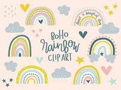 Boho Rainbow Clipart by Seeley in Second Classroom Displays, Classroom Themes, Cute Wallpaper Backgrounds, Cute Wallpapers, Rainbow Clipart, Painting Patterns, Boho, Creative Crafts, Projects For Kids