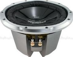 "Sony Xplod 10"" SVC Subwoofer by Sony. $37.99. Feel the bass. The XS-L106P5 Xplod 10"" Single Voice Coil (SVC) subwoofer is constructed of woven glass fiber reinforced with a Mica cellular composite to provide a super rigid cone for better response. Delivering up to 1200 watts of peak power, this sub also features gold-plated 5-way binding posts and a single 4-ohm voice coil, which provides a virtual guarantee of compatibility between your amps, speakers and subwoofers."