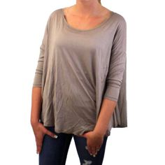 Woman's Taupe Blousey Blouse Shirt Top Polyester Rayon Long Sleeve Flowy Thin #Freeloader #Blouse #Casual