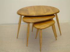 Ercol pebble coffee tables. Sold