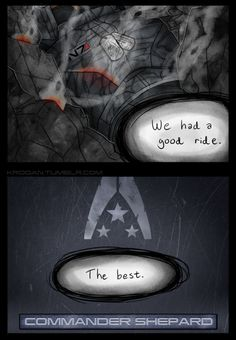 we had a good ride. the best. #masseffect