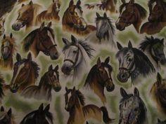 Fabric Robert Kaufman WAY OUT WEST Horse Print Fabric David Wenzel 46 x 42 #RobertKaufman