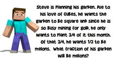 Minecraft with fractions and decimals
