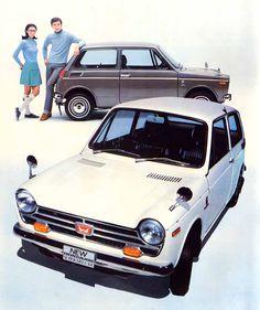 Vintage Cars Classic Honda Plus - Classic Japanese Cars, Japanese Sports Cars, Classic Cars, Retro Cars, Vintage Cars, Vintage Ideas, Kei Car, Car Brochure, Roadster