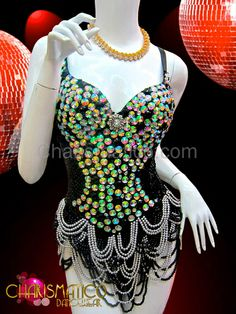Charismatico Dancewear Store - CHARISMATICO Iridescent jeweled black sequin dance leotard with draped headed skirt, $169.00 (http://www.charismatico-dancewear.com/iridescent-jeweled-black-sequin-dance-leotard-with-draped-headed-skirt/)