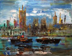 James Lawrence Isherwood, The Thames, London Houses of Parliament on ArtStack #james-lawrence-isherwood #art