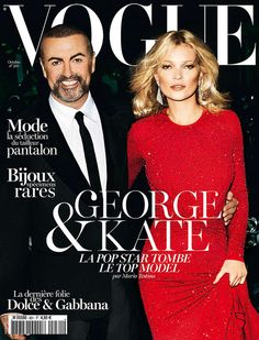 George Michael & Kate Moss on Vogue Paris October 2012