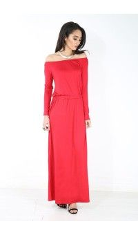 Lucy Off Shoulder Long Sleeve Maxi Dress £12.99